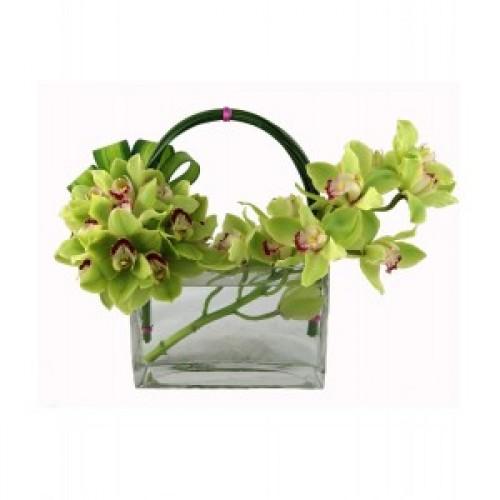 Аранжировка от цветя Орхидеи и романтика