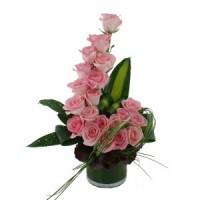 """Аранжировка от цветя """"Розова вълна"""""""