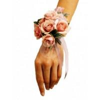 Гривна за шаферка от мини рози BR7