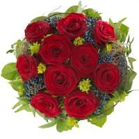 Романтика - букета на розите