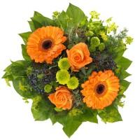Деметра - Симпатичен букет в оранжеви тонове