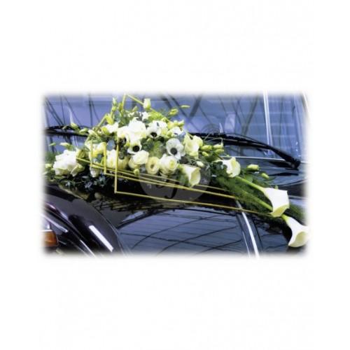 Аранжировка за автомобил кала и рози M18