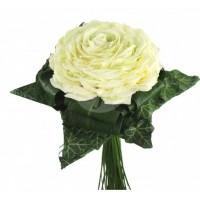 Булчински букет от бели рози 16