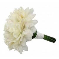 Булчински букет от бели орхидеи - цимбидиум 17