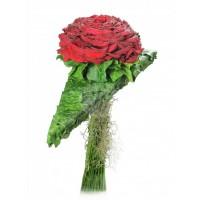 Булчински букет червени рози 34