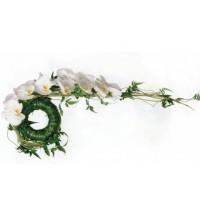 Булчински букет с бели орхидеи BM17