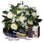 White Flowers, Champagne & Chocolates