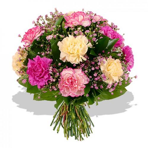 """Букет """"Карамфили"""" в розово"""