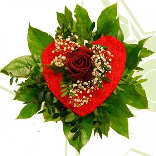 Една червена роза и..моето сърце