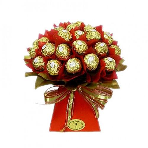 Шоколадов букет в Червено