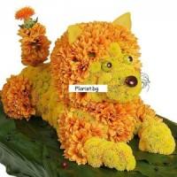 Лъвица от цветя