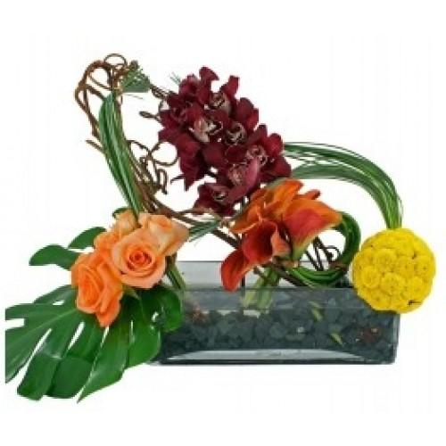Аранжировка от цветя Просто и прекрасно