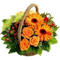 Амбър - кошница с цветя
